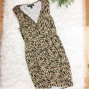 Forever 21 Brown & Black Wrap Dress M